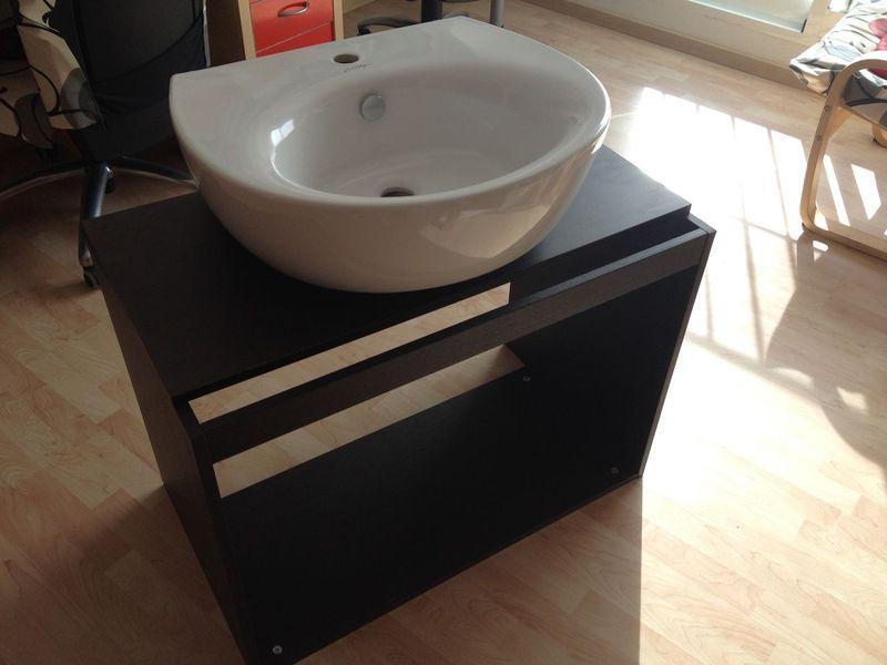 Armario Ikea Puertas Correderas ~ Paso a paso una encimera para el mueble de lavabo