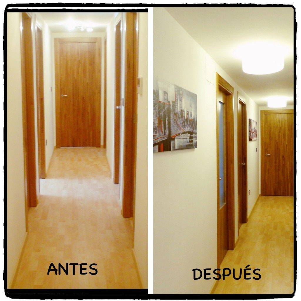 Antes y despu s de un pasillo for Colores para el pasillo de un piso