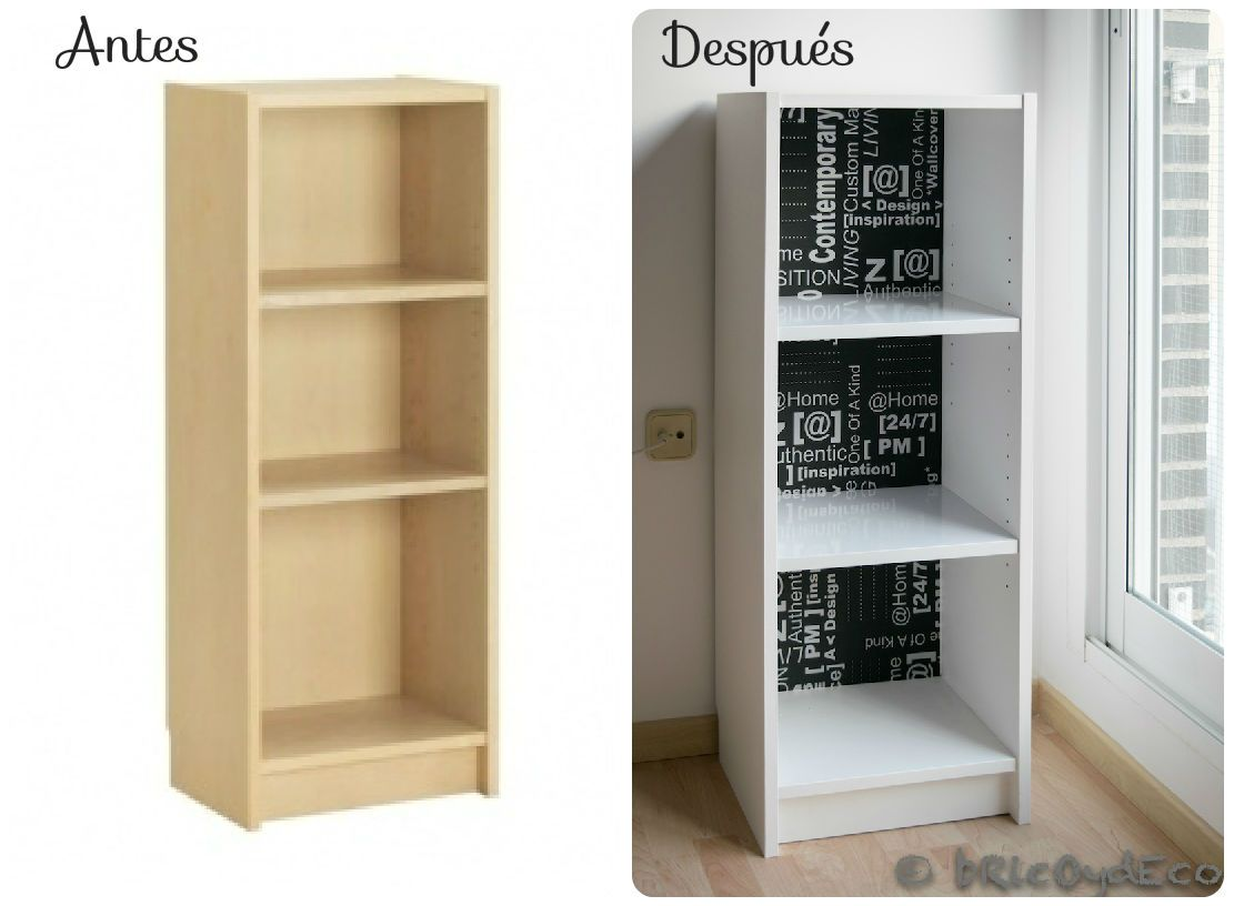 Antes y despu s de un mueble de melamina for Muebles billy ikea