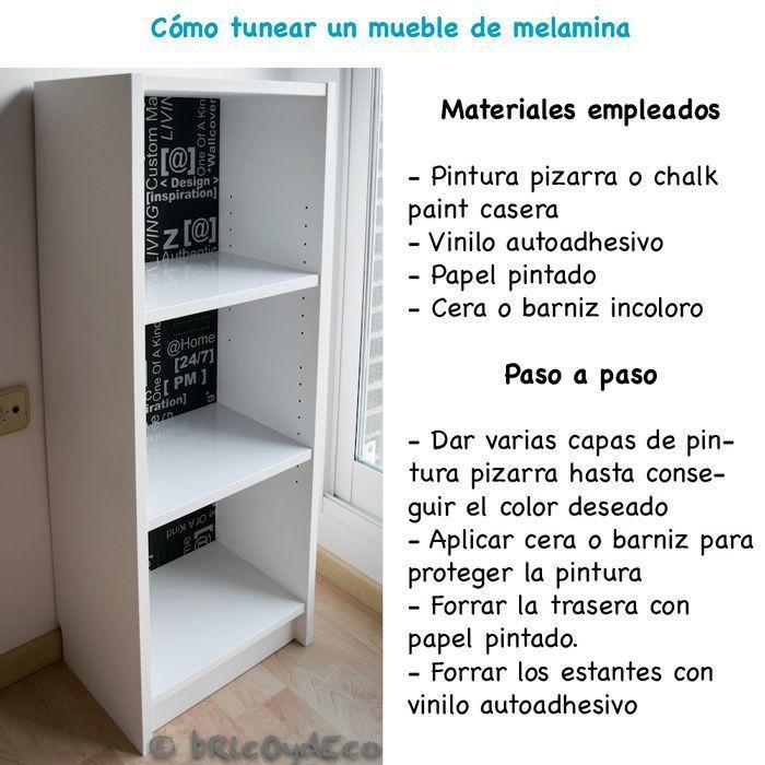 Antes y despu s de un mueble de melamina for Tunear muebles