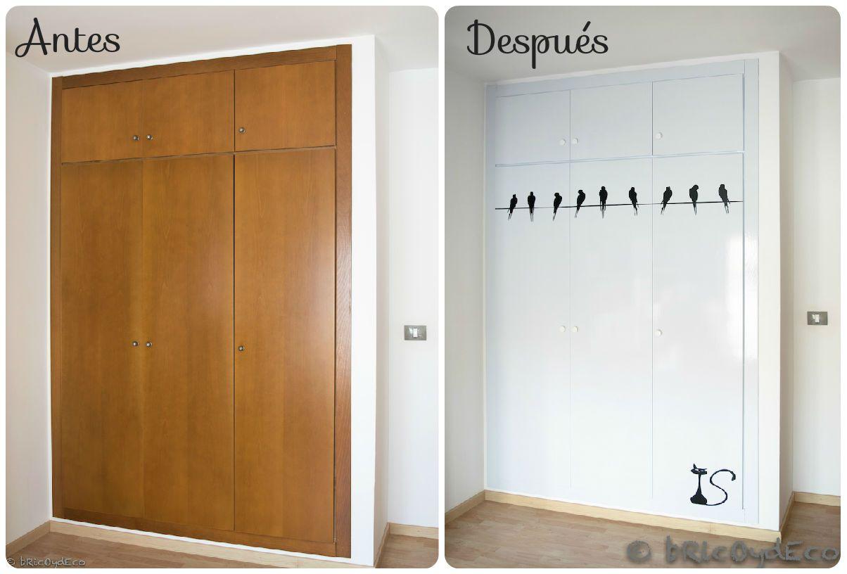 C mo forrar las puertas del armario con vinilo paso a paso - Papel para forrar muebles de cocina ...
