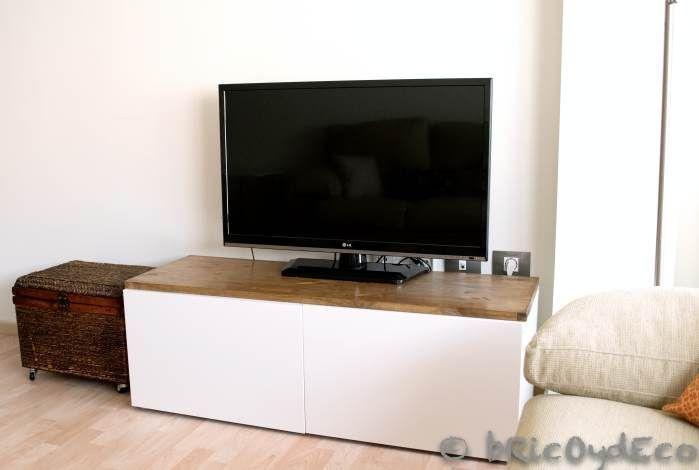 Personalizar muebles tuneando una mesa para la tv for Mesas para television ikea
