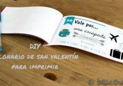 Talonario de San Valentín para imprimir