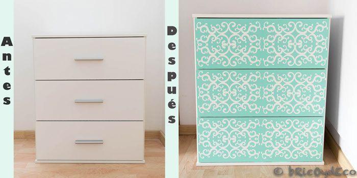 Forrar con vinilo como renovar una sencilla c moda de - Papel pintado autoadhesivo para muebles ...