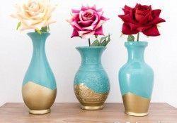 Cómo reciclar jarrones de cerámica con pintura en spray