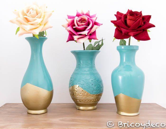 C mo reciclar jarrones de cer mica y renovarlos con for Como pintar jarrones de ceramica