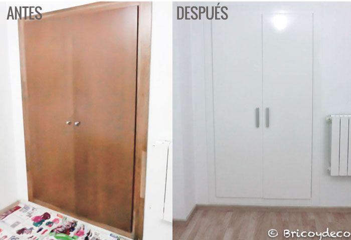 C mo lacar las puertas paso a paso for Papel pintado para puertas de armario