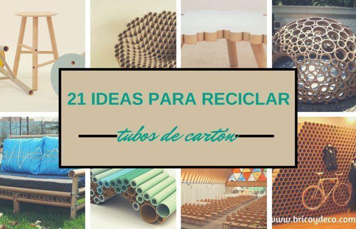 21 ideas para reciclar tubos de cart n for Como reciclar una mesa de tv vieja