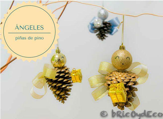 C mo reciclar pi as de pino en adornos navide os - Adorno navideno con pinas ...
