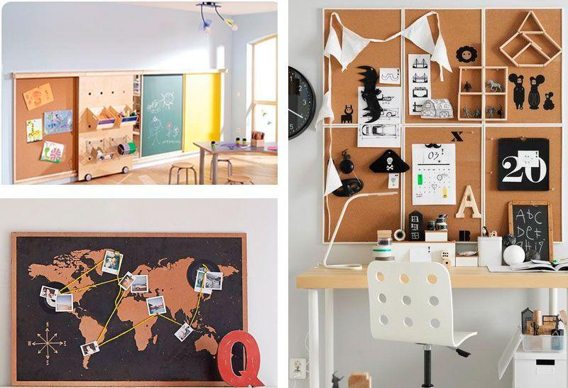 7 ideas de tableros de corcho pr cticos y decorativos - Organizar habitacion infantil ...