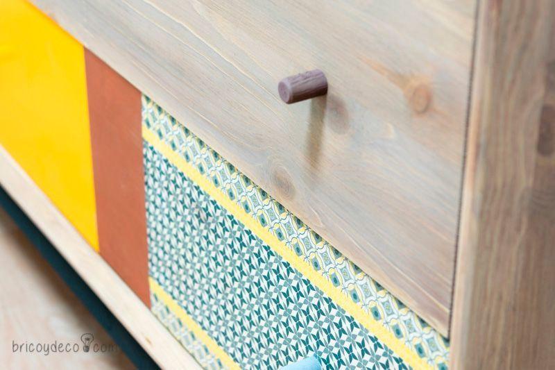 Colaboraciones de Bricoydeco: muebles tuneados  y adornos de pared