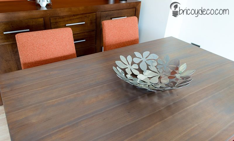 Cómo renovar una mesa con lasur paso a paso