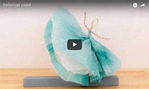 cómo hacer bailarinas de papel